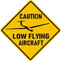 ASK 21 Caution Low Flying Logo Decal