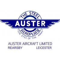 Auster The Steel Aeroplane Aircraft Logo