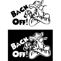 Back Off Warning Signs Decal