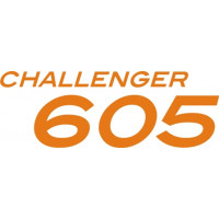 Bombardier 650 Challenger Aircraft Logo Decal