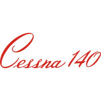 Cessna 140 Aircraft Script Decal