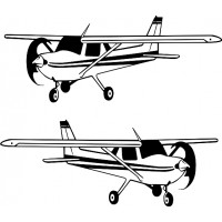Cessna 150 Airplane Aircraft Logo