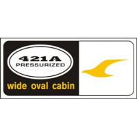 Cessna 421A Pressurized Wide Oval Cabin Aircraft Decal