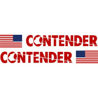 Contender Boat USA Flag Logo Decal