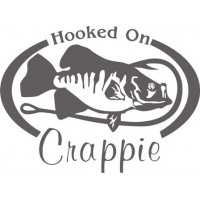 Hooked On Crappie Salt Water Fish Decal