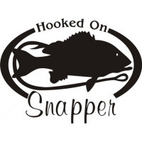 Hooked On Snapper Salt Water Fish Decal