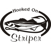 Hooked On Stripper Salt Water Fish Decal