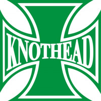 Knothead Iron Cross Motorcycle Decals