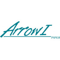 Piper Arrow I Old Style Aircraft Logo Decal